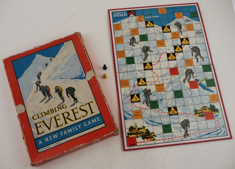 [English Folding Board Game, Housed in the Original Box and Titled:] Climbing Everest: A New Family Game. ASIA - EVEREST.