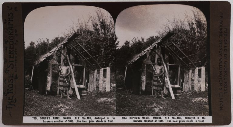 [Collection of Thirty-Six Original Albumen Stereoviews Showing New Zealand Landscapes, Titled:] Souvenir of the New Zealand International Exhibition / Gems of New Zealand Scenery / The Kapai Series. PACIFIC - NEW ZEALAND, George ROSE.