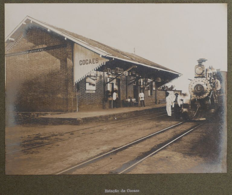 [Album with Thirty-Nine Large Original Gelatin Silver Photographs of Stations, Bridges and Trains of Companhia Mogiana de Estradas de Ferro, Sao Paulo State]. SOUTH AMERICA - BRAZIL, O. SAINATI.