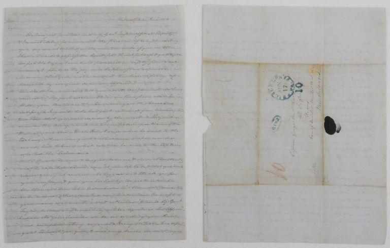 [Autograph Letter Signed Mary Dickinson McCall to her renowned brother George McCall in the 4th Infantry care of the quartermaster in New Orleans, Recounting his Recent Heroism.]. NORTH AMERICA - MEXICAN WAR, Mary Dickinson MCCALL.