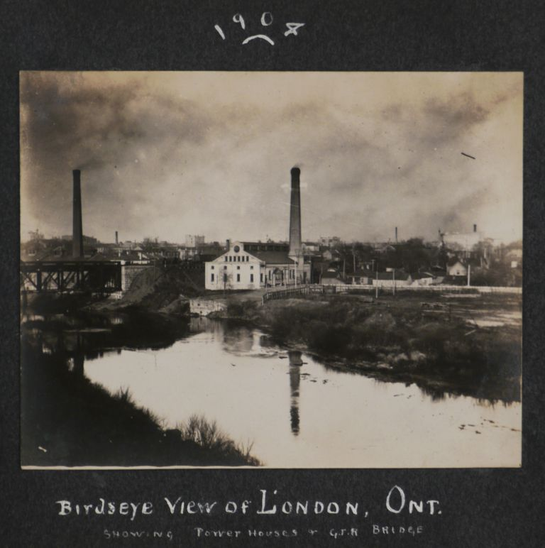 """[Album of 53 Original Gelatin Silver Photographs of London, Ontario, Premises of the """"McPherson Fruit Company,"""" and including a Portrait of its General Manager and Future Owner R.R. Scott]. NORTH AMERICA - CANADA - ONTARIO - LONDON."""