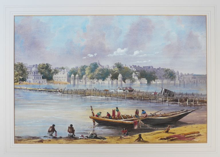[Original Watercolour View of Benares (Varanasi)]. ASIA - INDIA - VARANASI, Welby Brown JACKSON, Varanasi, Original Watercolour View of Benares.