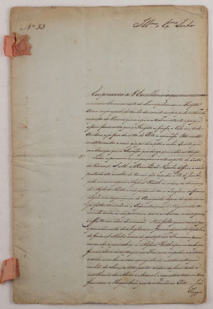 [Manuscript Report by a Notable Portuguese Diplomat, Reporting on Napoleon's 1800 Campaign in Italy, including the Battle of Marengo]. EUROPE - NAPOLEONIC WARS, Domingos António de Sousa COUTINHO, 1st Conde, Marquis de Funchal.