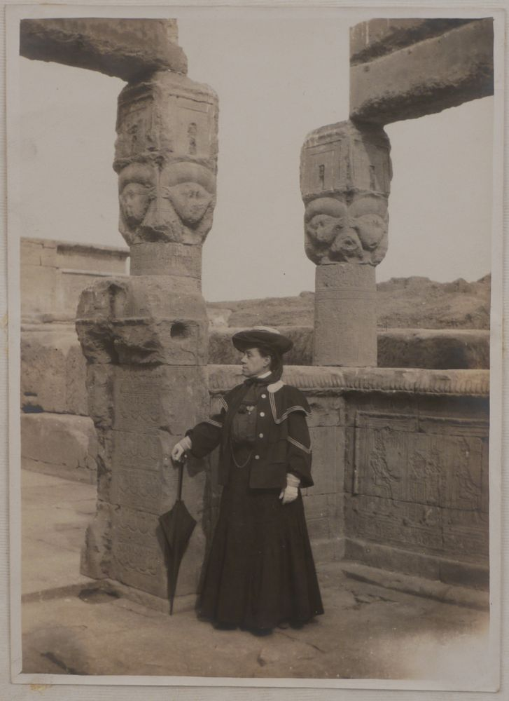 [Album with 96 Original Gelatin Silver Photographs Showing Two French Female Travellers during Their Cruise up the Nile to the First Cataract, and Including a Side Trip to Palestine and Syria]. MIDDLE EAST, ISLAMIC WORLD - EGYPT.