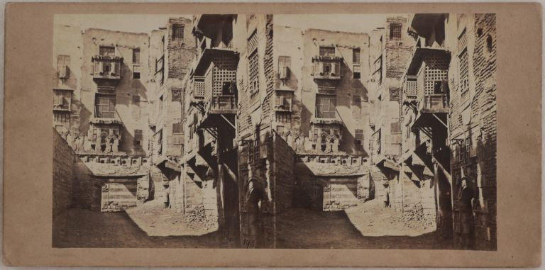 [Collection of Twenty Early Original Albumen Stereoview Photographs of Egypt, Showing Cairo, Ancient Egyptian Temples and Sites along the Nile and Suez Canal Under Construction]. MIDDLE EAST, ISLAMIC WORLD - EGYPT.