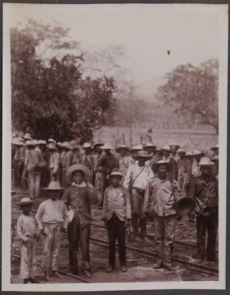 [Album with over 160 Original Gelatin Silver Photographs of Honduras Railroad, Cities and People, American Residents and their Houses; [With] Seventy Loose Photos (about 40 duplicates), Five Period Autograph Letters Signed to Smith and Written on Paper with the Honduras Railroad Printed Letterhead, Six Real Photo Postcards, Two Honduran 1903 Presidential Election Ribbons, and Several Related Ephemera.]. CENTRAL AMERICA – HONDURAS, Charles SMITH, American Vice-Consul in Honduras, M. D.