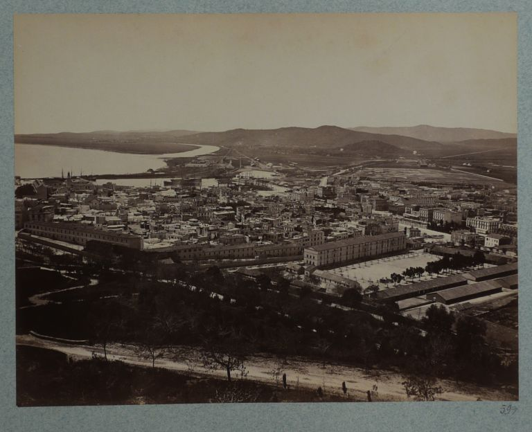 [Album with Fifty-Eight Early Original Albumen Photographs of French Algeria, Showing Algiers, Constantine, Bone, El Kantara, Katara Gorge, Roman Ruins in Timgad, Portraits of Native Algerians, Views of Smaller French Settlements and Country Houses, Algerian Villages etc.]. AFRICA - ALGERIA.