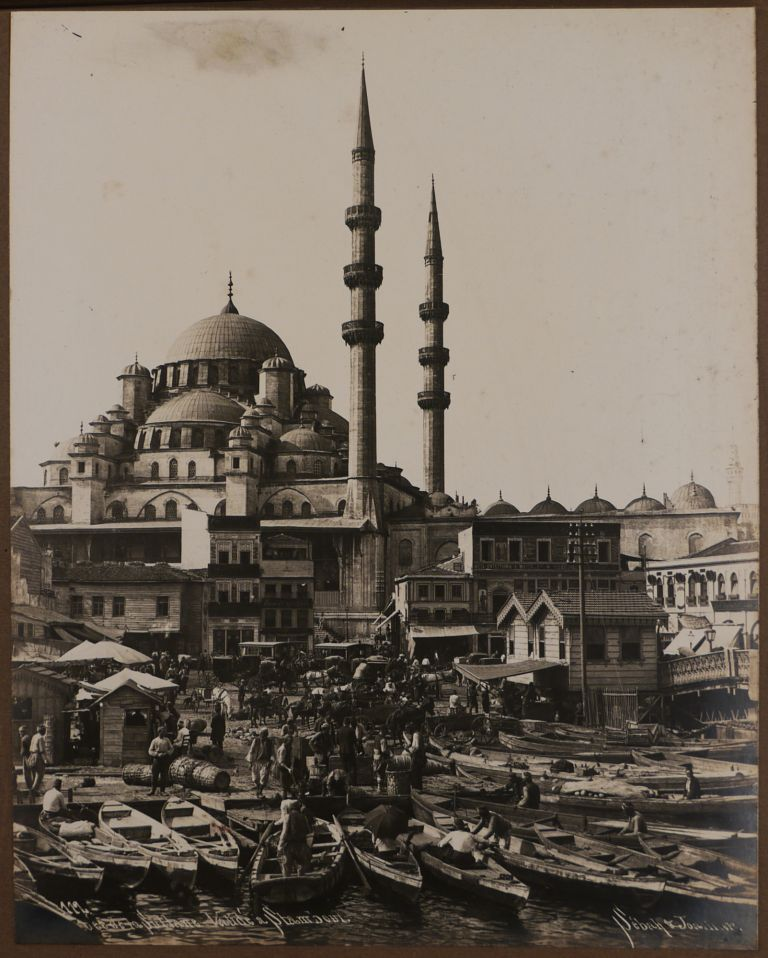 [Album with Forty-Two Original Gelatin Silver Photographs, Including Thirty-Seven Views of Istanbul and the Strait of Bosphorus (Including Eight Wide-angle Panoramas), and Five Views of the Acropolis in Athens]. MIDDLE EAST, ISLAMIC WORLD - TURKEY - ISTANBUL, SEBAH, JOAILLER STUDIO.