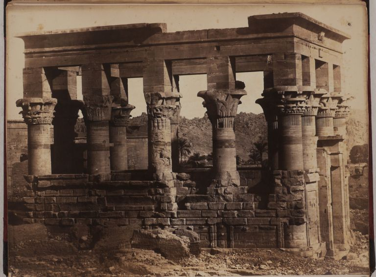 [Album from the Collection of Noted American Christian Missionary, Writer and Artist Henry John Van Lennep, with Thirty Original Albumen Photographs of Beirut, Jerusalem, Bethlehem, Nazareth, Damascus, Baalbek, and Ancient Sites of Egypt - the Great Pyramids and the Sphinx of Giza, Pompey's Pillar and Cleopatra's Needle in Alexandria, Karnak, Luxor, Ramesseum Temples, and the Philae Island Complex]. MIDDLE EAST, LEVANT ISLAMIC WORLD - HOLY LAND, PALESTINE, EGYPT, Wilhelm HAMMERSCHMIDT, Henry John VAN LENNEP, ca. 1830 - d. 1869.
