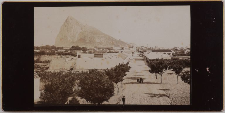 [Collection of Fifteen Wide Angle Albumen Photos of Gibraltar]. MIDDLE EAST, ISLAMIC WORLD - GIBRALTAR, NORTH AFRICA.