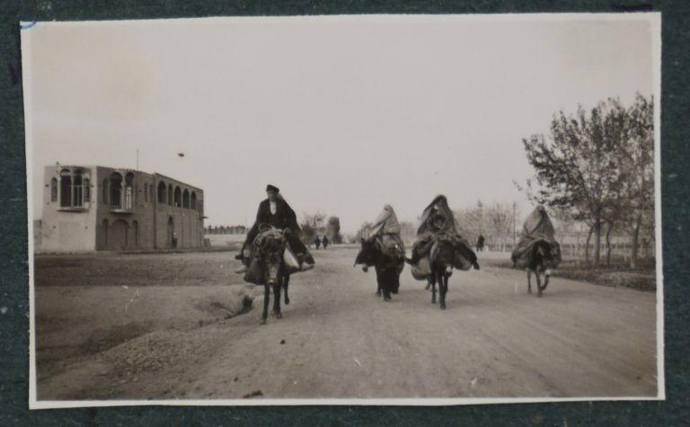 [Album with 144 Original Gelatin Silver Photos Taken by a German Resident of Tehran in the Mid-1930s Showing Tehran, Mount Damavand, Ruins of Persepolis, German Expats Living in Tehran and Travelling in the Countryside, German Administrative Building Including an Office Featuring Swastikas and Hitler's Portraits]. MIDDLE EAST, ISLAMIC WORLD - IRAN - GERMANS.