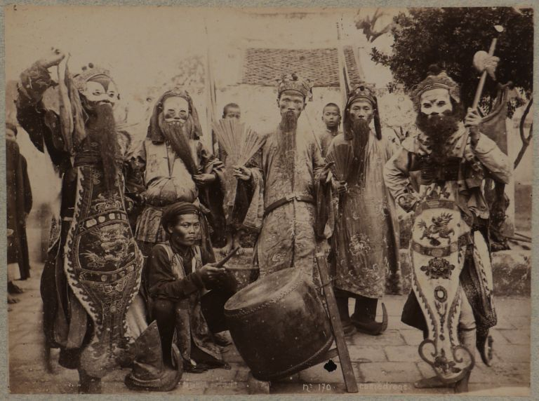 [Album with Sixty Photographs, including Fifty-five Albumen, Four Cyanotypes and One Platinum Print Compiled by a French Officer During His Service in French Indochina]. ASIA - FRENCH INDOCHINA.