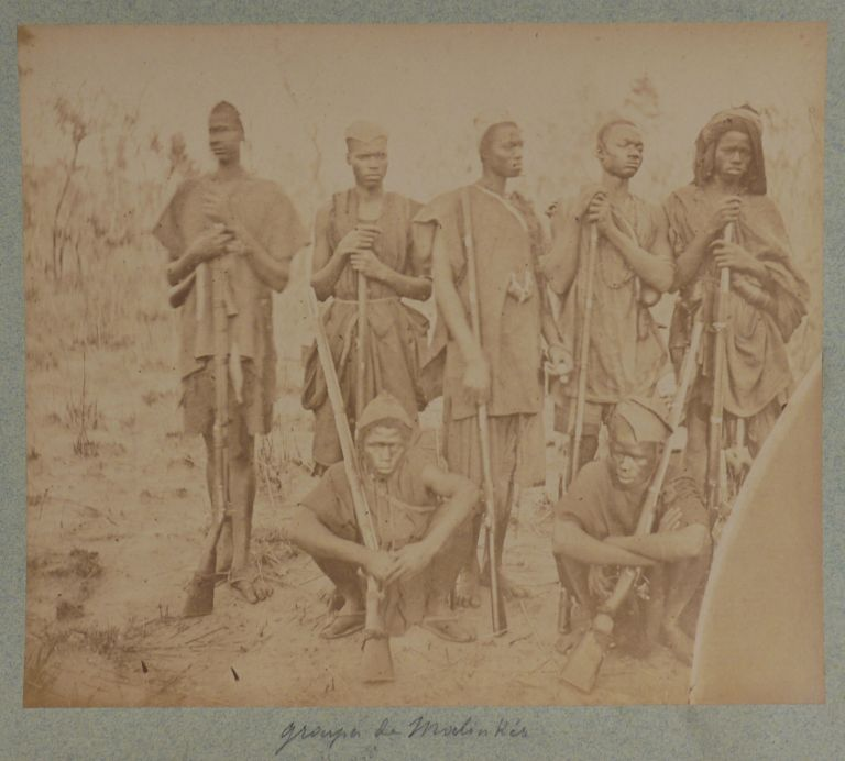 [Rare Collection of Twenty-four Very Early Large Original Albumen Photographs Which Document Borgnis-Desbordes Military Expeditions From Upper Senegal into French Sudan (Mali). French and Indigenous Troops are Shown, as well as the Indigenous Peoples Including Chiefs and Settlements Including Forts and Villages Encountered]. AFRICA - MALI - FRENCH EXPEDITION, General Gustave, BORGNIS-DESBORDES.