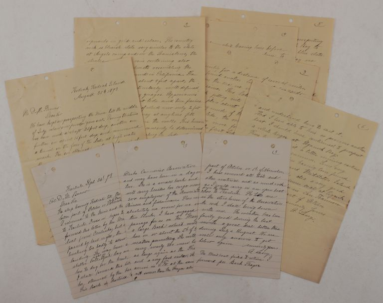 [Collection of Two Extensive Autograph Letters Signed by Gold Miner and Surveyor Albert Lascy, Giving a Detailed Account of His Gold Exploration near Karluk, Uyak and Uganik Bays on the Northern Kodiak Island]. NORTH AMERICA - ALASKA - KODIAK ISLAND – GOLD MINING, Albert LASCY.
