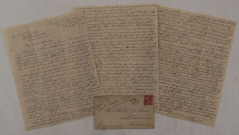 [Original Autograph Letter Signed with a Detailed Account of the U.S. Government Triangulation and Hydrographic Survey in the Eastern Prince William Sound in Summer 1902; With the Original Envelope]. NORTH AMERICA - ALASKA – PRINCE WILLIAM SOUND, George Armistead McELDOWNEY.