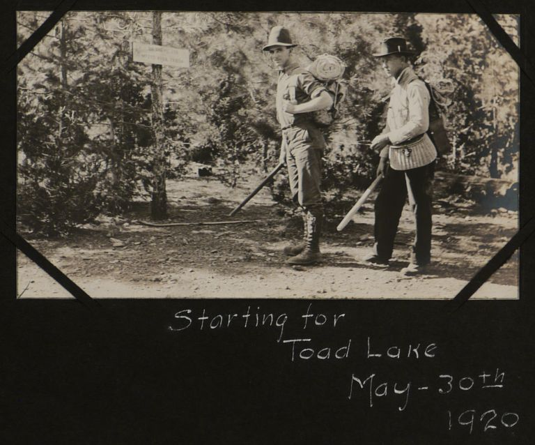 [Album of 93 Original Gelatin Silver Photographs of Northern California, with Vivid Camping, Hiking, Boating and Fishing Scenes]. NORTH AMERICA - CALIFORNIA.