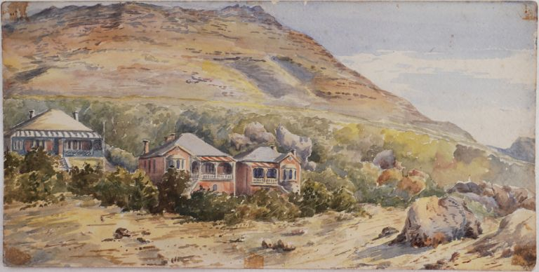 [Collection of Three Watercolours of Simonstown, Cape of Good Hope, South Africa]. AFRICA - CAPE TOWN.