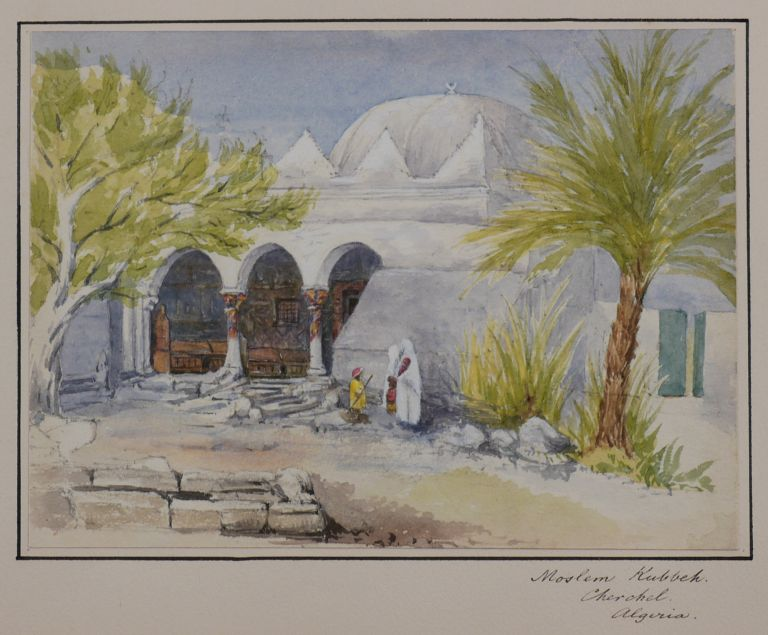 [Collection of Three Attractive Original Watercolour Views Showing Cherchell and Mustapha Superieur in Algeria]. MIDDLE EAST, ISLAMIC WORLD - ALGERIA.