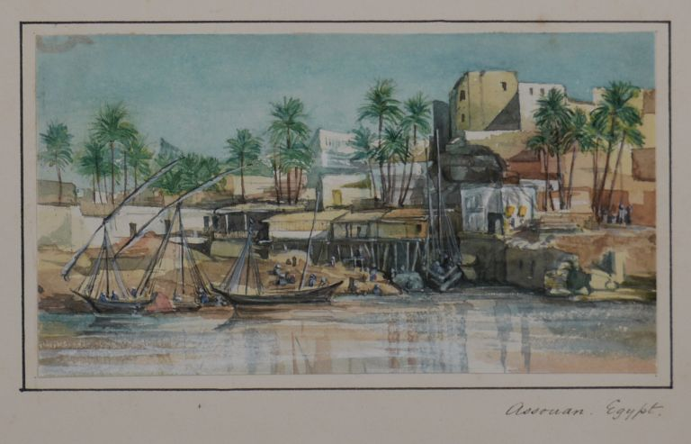 [Collection of Nine Attractive Original Watercolour Views of Egypt and the River Nile]. MIDDLE EAST, ISLAMIC WORLD - EGYPT.