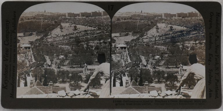 [Collection of Thirty Gelatin Silver Stereo Views of Jerusalem and the Holy Land]. MIDDLE EAST, ISLAMIC WORLD - JERUSALEM - HOLY LAND.