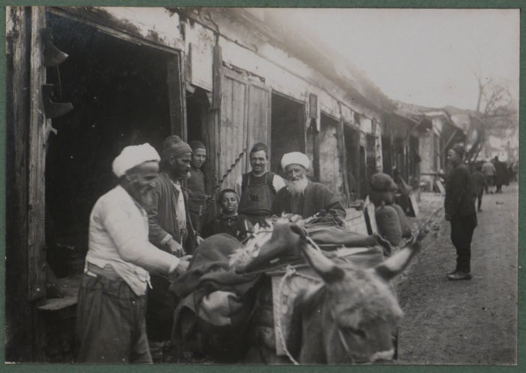 [Album with 225 Original Gelatin Silver Photographs Showing Macedonia & Greece, Istanbul & Odessa during the Last Phase of WW1]. MIDDLE EAST, ISLAMIC WORLD - TURKEY, THE BALKANS THEATRE IN WWI.