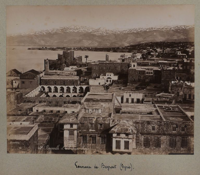 [Collection of 72 Original Albumen Studio Photos, Housed in an Attractive Period Folder, Titled:] Constantinople, Athènes, Syrie, Palestine. MIDDLE EAST, SYRIA ISLAMIC WORLD - PALESTINE, TURKEY, Félix BONFILS, Luigi FIORILLO, ABDULLAH FRÈRES, Guillaume BERGGREN, Pascal SÉBAH, active ca. 1870s-1890s, active.