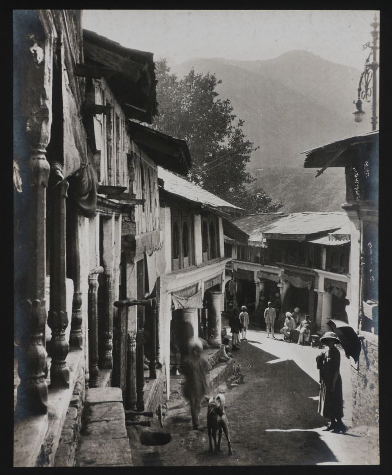 [Two Albums with 94 Large Original Gelatin Silver Photos from a Mountaineering Trip to the Chamba Princely State, Showing Chamba City and Valley, Local Officials, the Travellers (Including Two Ladies) Trekking and Ascending the Western Himalayas, Their Guides and Porters, Local People, etc.]. ASIA - INDIA – CHAMBA PRINCELY STATE.
