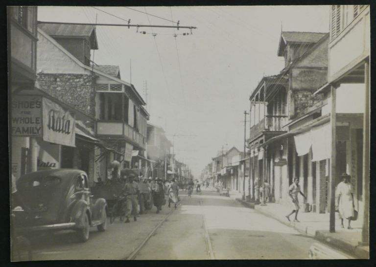 """[Album with 219 Original Gelatin Silver Photos, Illustrating Dr. L.E. Rozeboom's Malaria Research Trip to Trinidad in 1941, Showing the Party Members, Interior of a Trinidad Medical Facility, a Village near the US Air Base in Cumuto where """"We Collected Mosquitoes,"""" """"Place where Rozeboom got Malaria,"""" also Port of Spain, Scarborough, Chaguaramas Bay, Chacachacare and Gaspar Grande Island, Tunapuna, Arima, Manzanilla Bay, Toco Road, Galera Point Lighthouse, Balandra Bay, Eastern Main Road, San Sousi, Portraits of the Locals, etc.]. Dr. Lloyd E. ROZEBOOM, CARIBBEAN - TRINIDAD, TOBAGO – US MILITARY MEDICINE."""