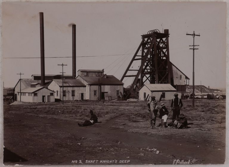 [Collection of Thirty Original Gelatin Silver Photos of Gold Mines and Refining Plants of the Witwatersrand Gold Fields around Johannesburg]. AFRICA - SOUTH AFRICA - JOHANNESBURG, F. E. POLLARD, GOLD MINING.