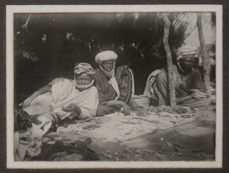 """[Album with 99 Gelatin Silver Photos of Northern Nigeria Taken During the Construction of the Baro-Kano Railway; With a Manuscript Letter Written on a Leaf with the Official Printed Letterhead of """"Assistant Engineer, Baro-Kano Railway"""" and Talking about Issues with Railway Traffic in February 1907]. AFRICA - NIGERIA – BARO-KANO RAILWAY."""