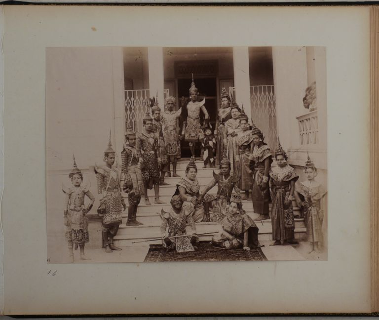 [Exquisite Lacquered Album with 25 Large Original Albumen and Gelatin Silver Views of Bangkok and Portraits of Thai People]. ASIA - THAILAND, Robert LENZ.