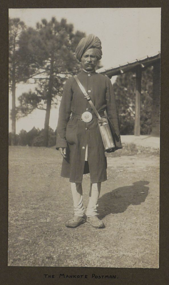 [Album with ca. 248 Original Gelatin Silver Snapshot Photos Taken by a Young Officer of the 1st Garrison Battalion of the Royal Scots Fusiliers while on Service in the Dalhousie, Chakrata and Jhansi Cantonments in India during WW1]. ASIA - INDIA – WW1.