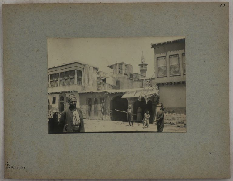 [Collection of Thirty Loose Original Gelatin Silver Photos, Showing Streets and People in Damascus, and the site of the Banias Village North of the Golan Heights]. MIDDLE EAST, ISLAMIC WORLD - SYRIA.