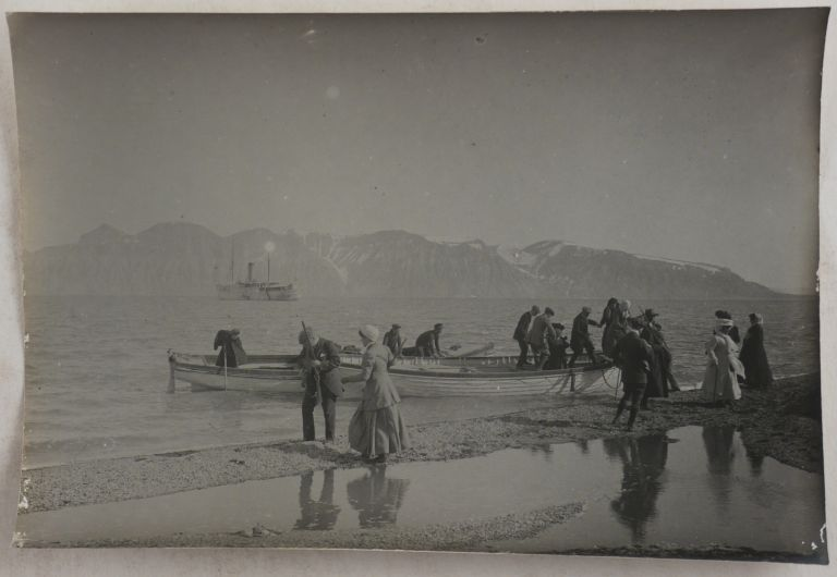 [Collection of Forty-four Large Original Platinum Print Photos Showing Spitsbergen during the Early Years of Industrial Development on the Archipelago]. ARCTIC - SPITSBERGEN, Louis de LAUNAY.
