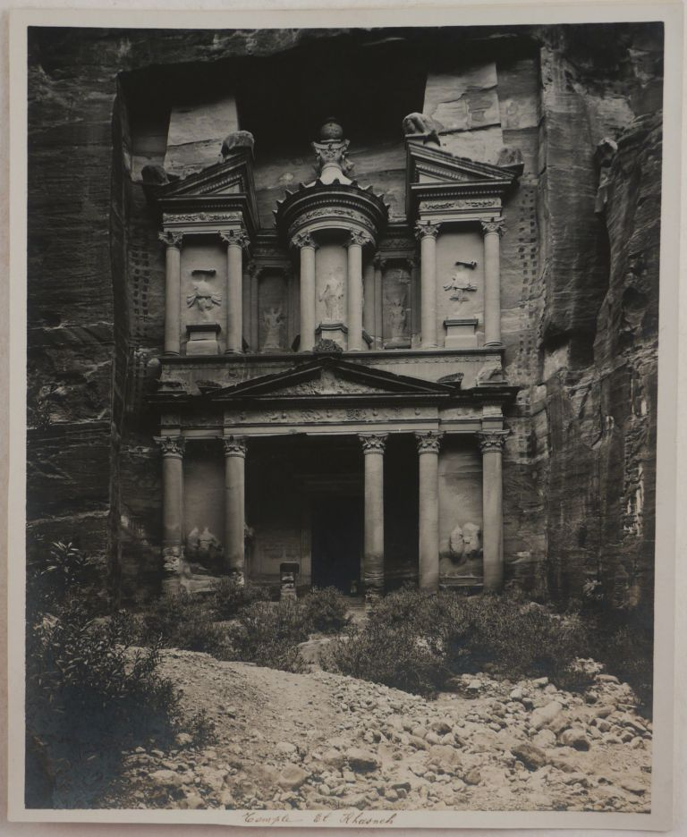 [Historically Important Collection of Thirteen Large Platinum Print Photographs of some of the Main Sites at Petra, Jordan]. MIDDLE EAST, JERUSALEM AMERICAN COLONY.