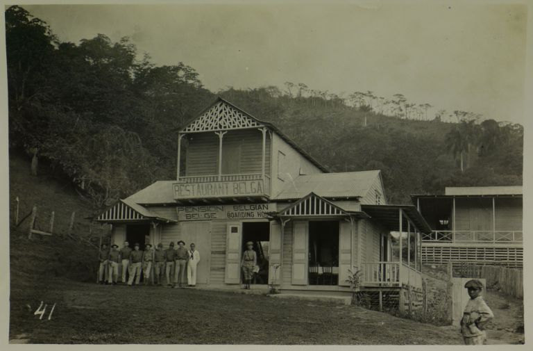 [Rare Collection of Thirty-two Gelatin Silver Photographs Showing Important Buildings and Street Scenes from Santiago [De Los Caballeros] and Environs]. CARIBBEAN - SANTIAGO - DOMINICAN REPUBLIC, CANTINCHI PHOTO, DE LANCEY PHOTO.