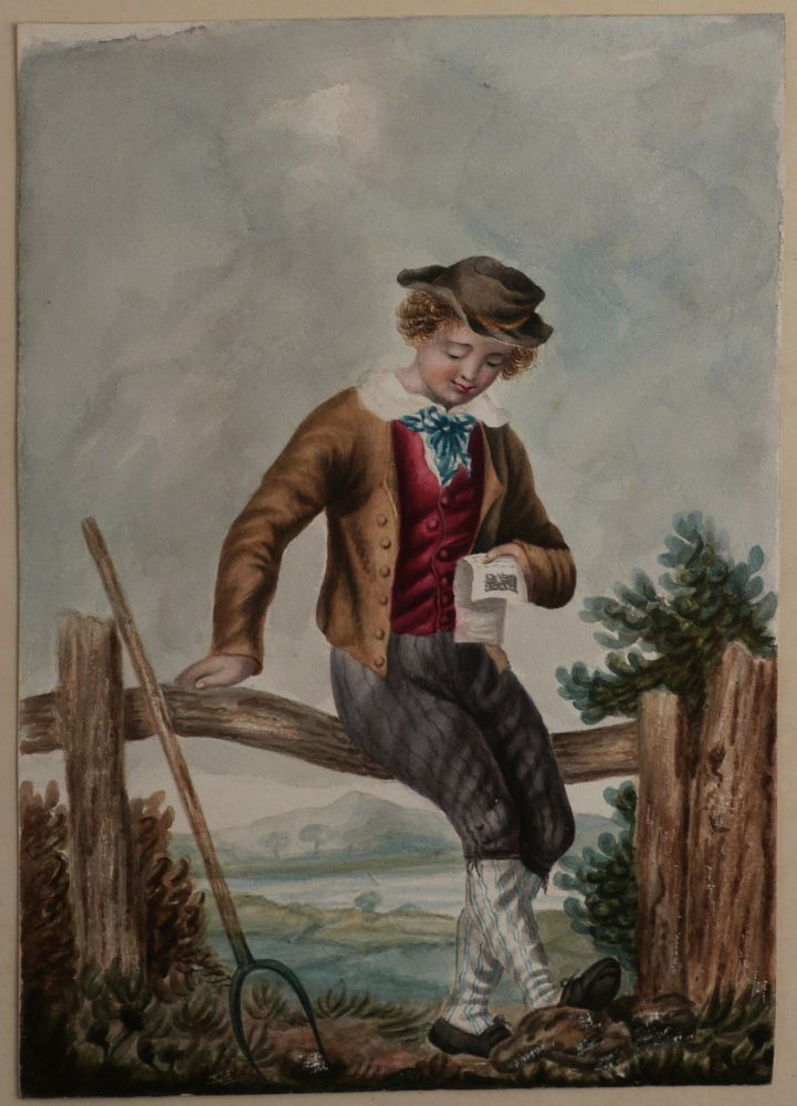 [Album with Thirty Original Watercolours Showing English Costumes of the Regency Era]. EUROPE - ENGLAND - REGENCY DRESS.