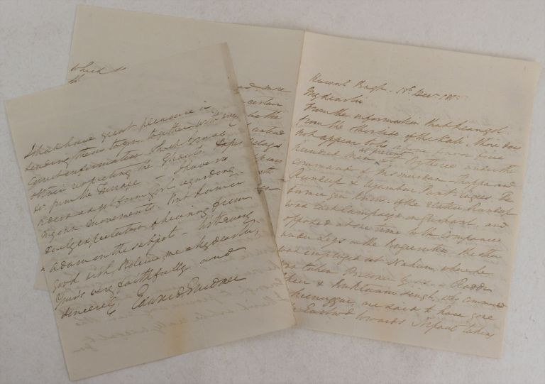 [Autograph Letter Signed to a Superior (Most likely Governor-General of Bengal, Francis, Earl of Moira (later 1st Marquis of Hastings) Reporting the Latest Intelligence Including Troop Strengths and Movements of the Gurkhas (Nepali Troops) in the Anglo-Nepalese War (1814-16)]. ASIA - NEPAL, Edward GARDNER, Resident in Kathmandu.