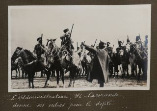 Album with Fifty-Three Original Gelatin Silver Photographs of a Luncheon and Fantasia (Arab...