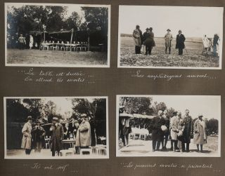 [Album with Fifty-Three Original Gelatin Silver Photographs of a Luncheon and Fantasia (Arab Equestrian Show) Performed for French Spectators near Morsott, Northeastern Algeria, Titled:] Déjeuner et Fantasia Dans la Forêt de Bourlaya / Dimanche 1er Avril 1928.