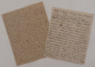 "Two Extensive Autograph Letters Signed ""W.H. Cleather"" to his Sister Mary Littlehales,..."