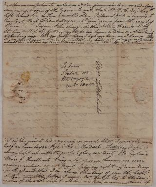 "[Two Extensive Autograph Letters Signed ""W.H. Cleather"" to his Sister Mary Littlehales, Describing his Early Service in the Military Regiment in British Ceylon, with notes on His Travel to Ceylon on Board HMS Thalia, Colombo Garrison and Officers, Local Society, Day Schedule et al]."