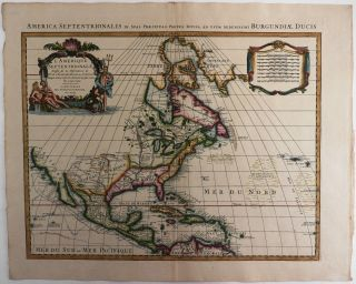 Copper Engraved Map of North America, Titled:] L'Amerique Septentrionale Dressee sur les...