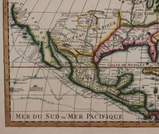[Copper Engraved Map of North America, Titled:] L'Amerique Septentrionale Dressee sur les Observations de Mrs. De l'Academie Royale des Sciences...
