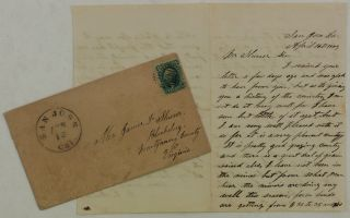 Historically Interesting Autograph Letter Signed from C. E. Smith, an Early Inhabitant of San...