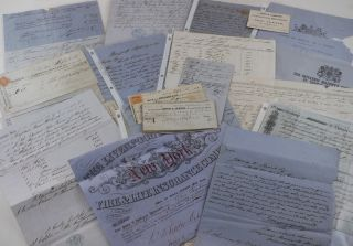 "Archive of Over Fifty Documents Relating to the Final Days of the British Schooner ""Lima""]...."
