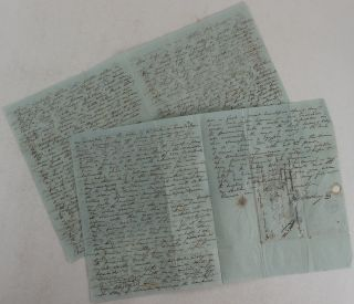 Interesting Content Rich Autograph Letter Signed to His Wife with a Description of Temples and...