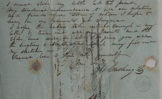 """[Interesting Content Rich Autograph Letter Signed to His Wife with a Description of Temples and Other Antiquities of Athens, Including the Acropolis, the Prison where Socrates was Sentenced to Death, the """"Bema"""" or pulpit """"where Demosthenes and other orators went to address the people,"""" Hill of Areopagus, Temple of Hephaestus, Choragic Monument of Lysicrates, Temple of Jupiter Olympus, Tower of the Winds, and Others]."""
