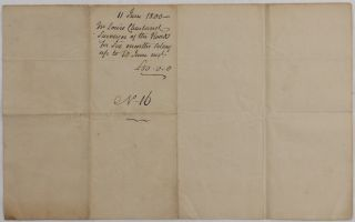 [Manuscript Signed Document in French of Charland's Request for Payment of his Salary at the District of Montreal and Signed by Him, and two Justices of Peace, Chaboiller and Richardson].