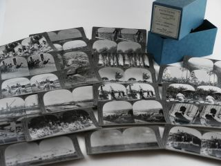 Collection of Twenty-five Original Gelatin Silver Stereoviews Showing Local People, Villages,...